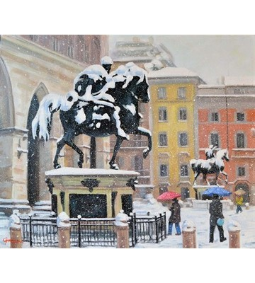 Nevica in piazza cavalli